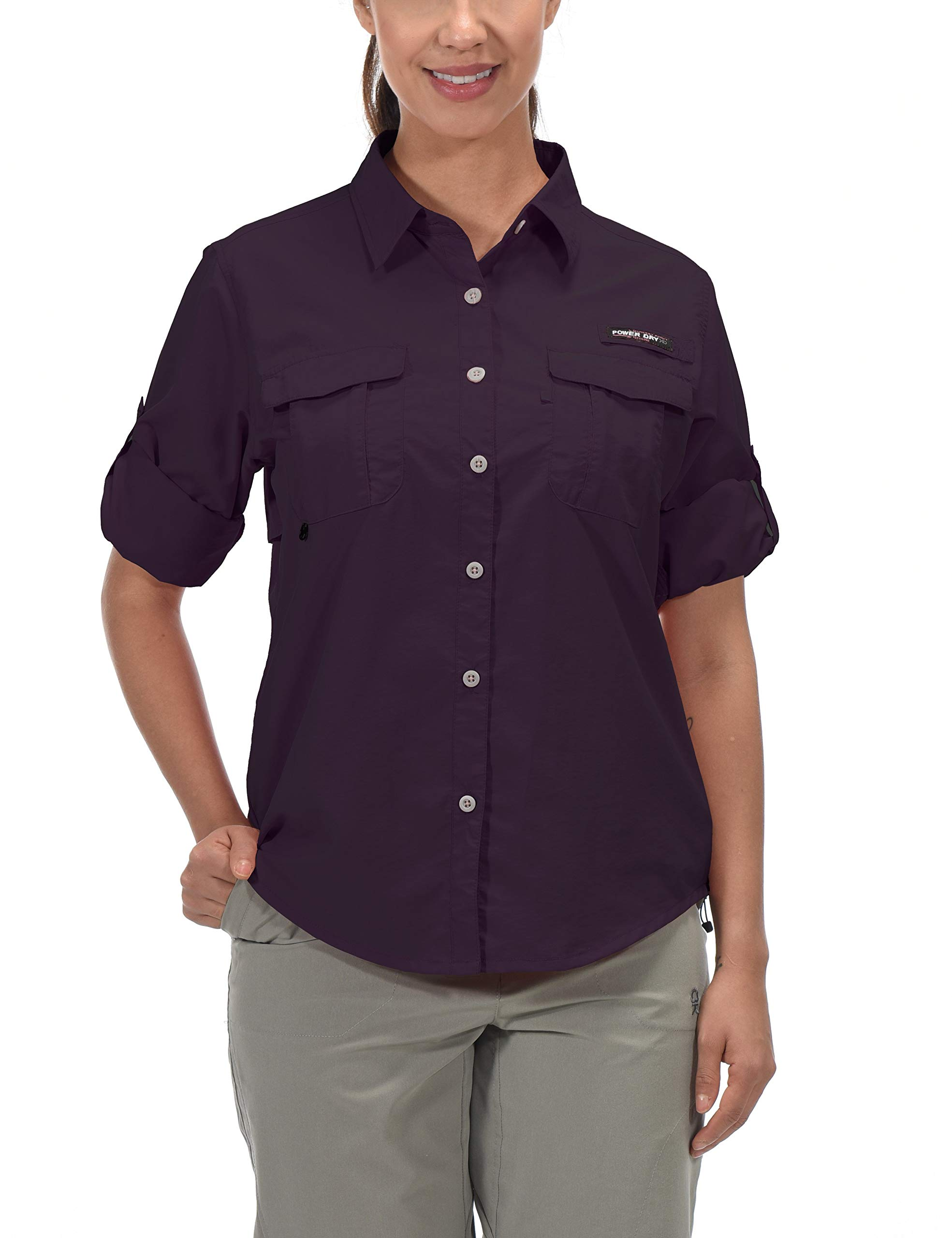 Little Donkey Andy Women's UPF 50+ UV Protection Shirt, Long Sleeve Fishing Shirt, Breathable and Fast Dry Purple XS by Little Donkey Andy