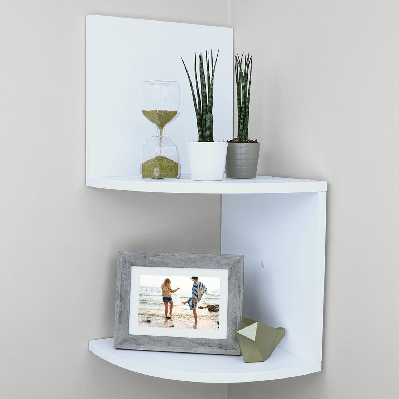 Cool Ballucci Large 2 Tier 4 Pcs Wall Mount Corner Shelf 12 X 12 Per Tier White Interior Design Ideas Jittwwsoteloinfo
