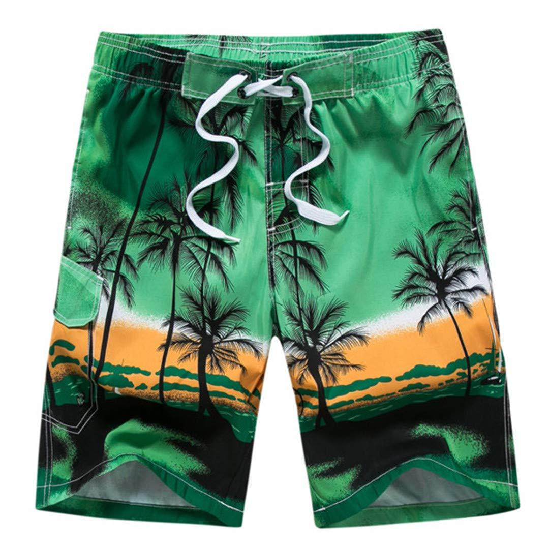 SCBMSAIURBF Couple Swimwear Board Shorts Women /& Mens Bermuda Surf Swimming Shorts Men Shorts Green 5XL