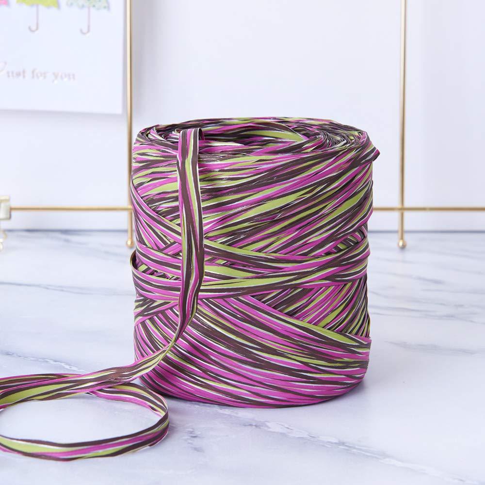 Pitaya Colored Paper Raffia, 200 Meters / 218 Yards by Funbou