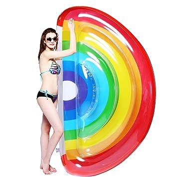Inflable Gigante de Flotador de Helado para Piscina, Colchón de Aire Inflable del PVC Piscina