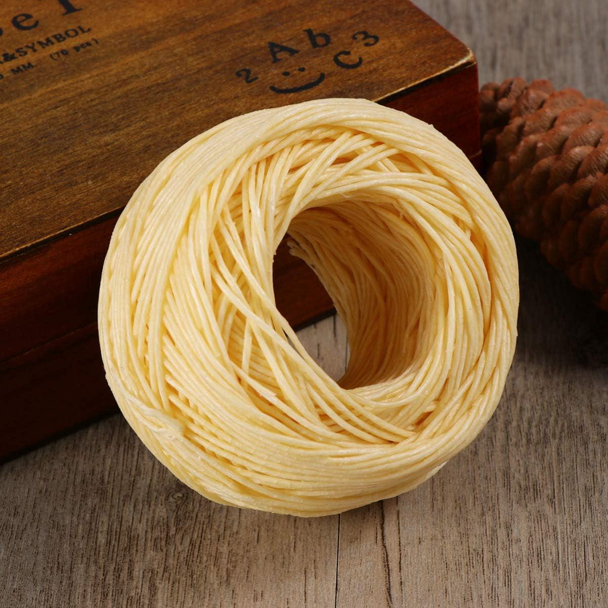 Heallily mecha de c/á/ñamo de cera de abejas baja en humo para proyecto artesanal fabricaci/ón de velas diy 61m