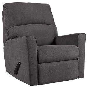 Ashley Alenya Contemporary Charcoal Rocker Recliner Chair