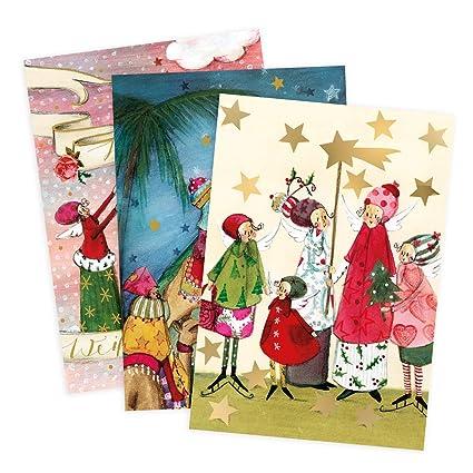 Juego de 3 Tarjetas de felicitación, Navidad, los reyes ...