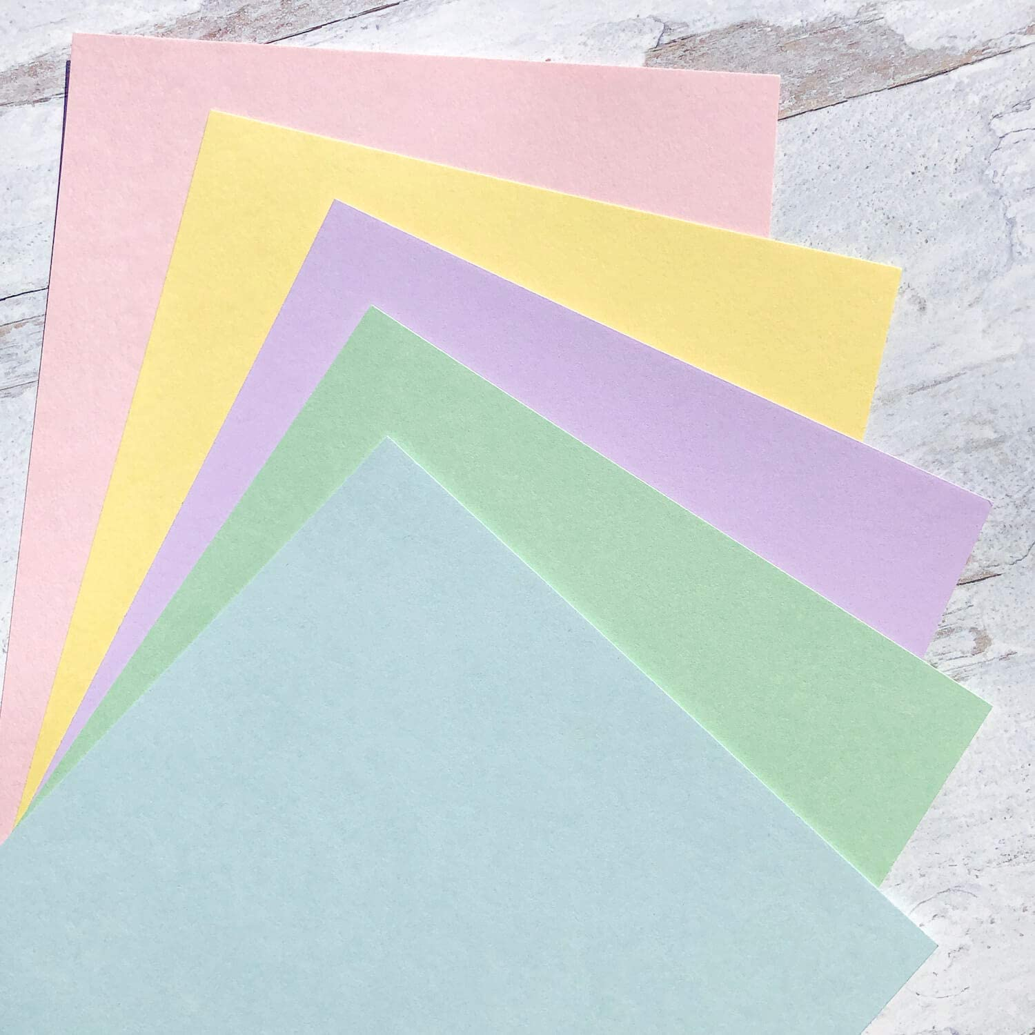 Pretty in Pastels 25 Sheets from Cardstock Warehouse Multi-Pack Assortment 8.5 x 11 inch 100 lb Cover Cardstock