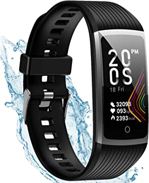 Fitness Tracker with Heart Rate, Activity Tracker Watch Steps Calorie Counter Smartwatch, Waterproof Smart Fitness Band, Pedometer Watch for Men and Women and Kids
