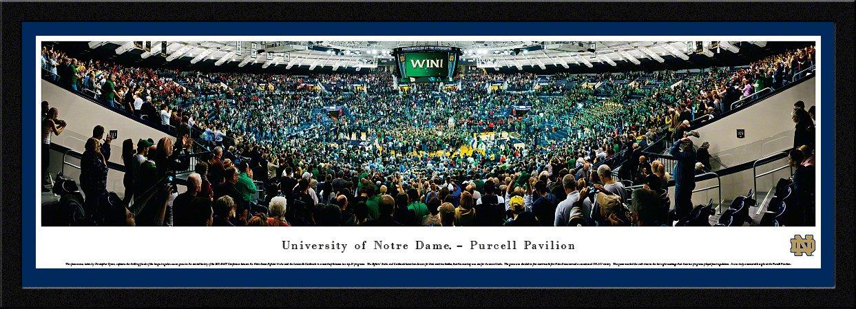Notre Dame Fightin 'アイルランドにバスケットボールPurcell pavilion- Blakewayパノラマ印刷  チームカラーのシングルマット付きセレクトフレーム B00QG4SS9Y