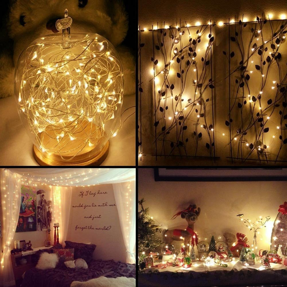 Samoleus 4.8M 20 LED Luci Della Stringa Solare, 8 Modi Impermeabile Fairy String Light Starry Lights Decorativa per Esterni (Colore)