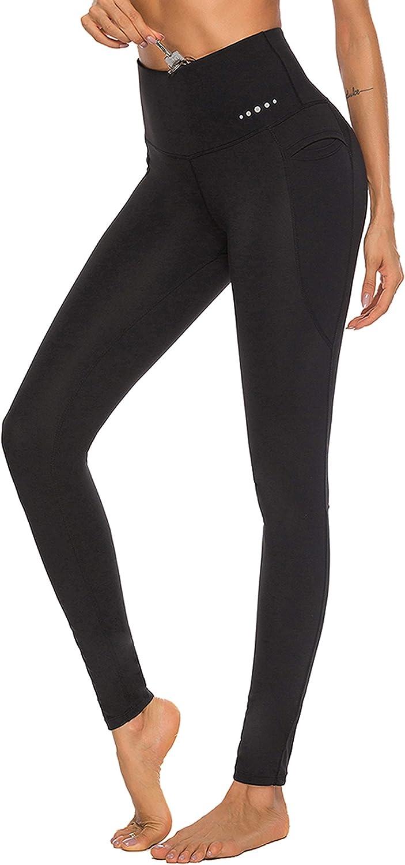 FeelinGirl Women's High Waist Yoga Pants Inner Pocket Non See-Through