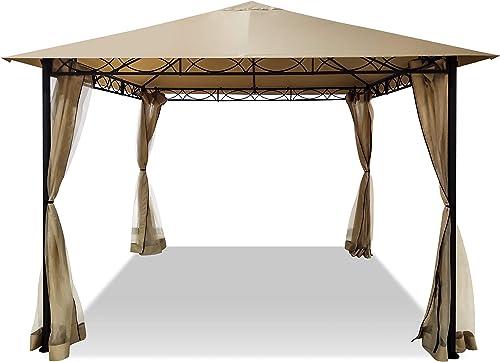 DikaSun Outdoor Gazebo Canopy Tent 10' x 10' Single Roof Gazebo