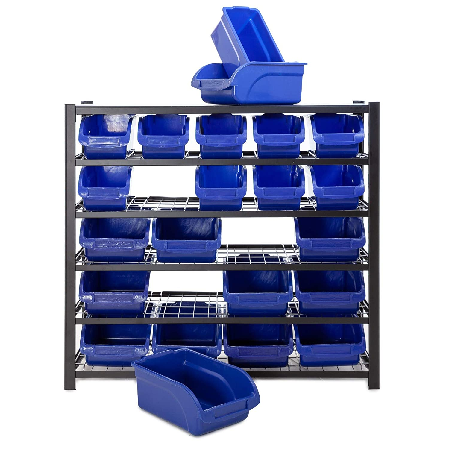 Racking Solutions Multipurpose 6 tier storage unit complete with 22 Bins.
