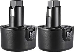TURPOW PS120 2 Pack 9.6V 3000mAh Battery Compatible with Dw050 Dw9061 Dw9062 De9036 De9062 Dw9614 Black and Decker PS120 Fire Storm Replacement Power Tool Battery