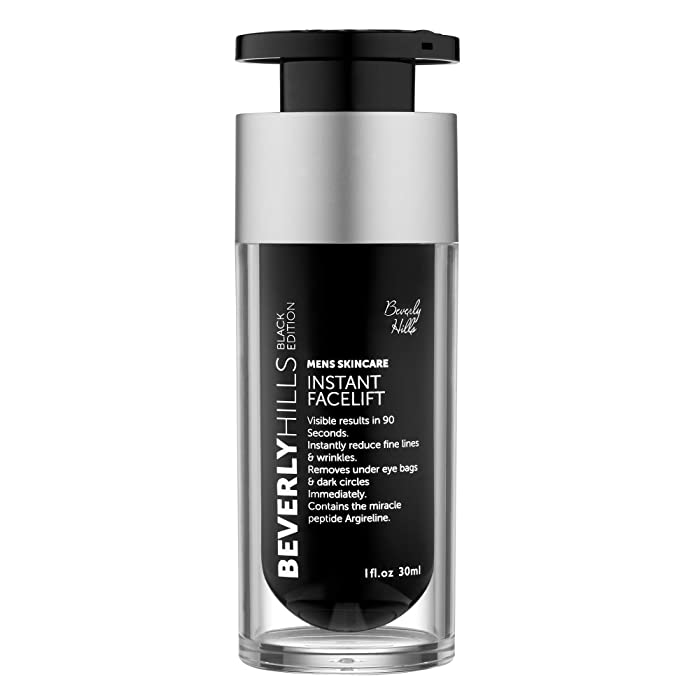 Beverly Hills Mens Instant Facelift and Eye Tuck Serum for Dark Circles and Puffy Eyes