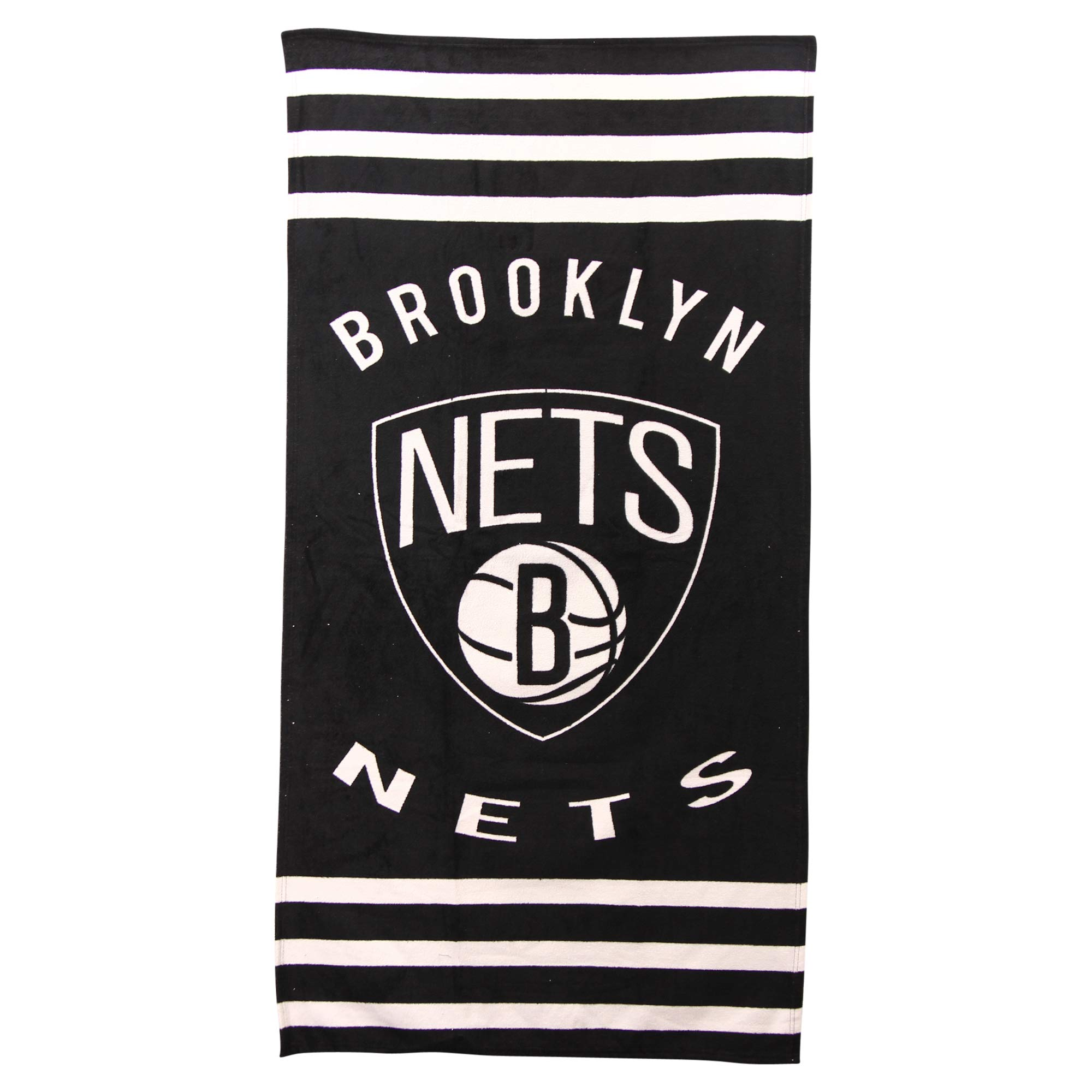 The Northwest Company NBA Striped Beach & Bath Towel 30'' x 60'' (Brooklyn Nets)
