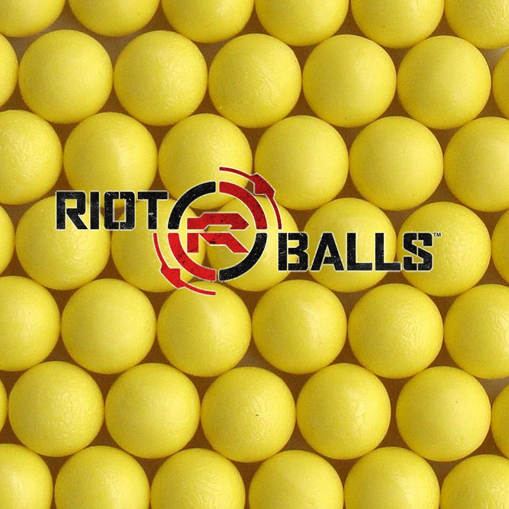 Yellow 100 X 0.68 Cal. PVC/Nylon Riot Balls Self Defense Less Lethal Practice Paintball …