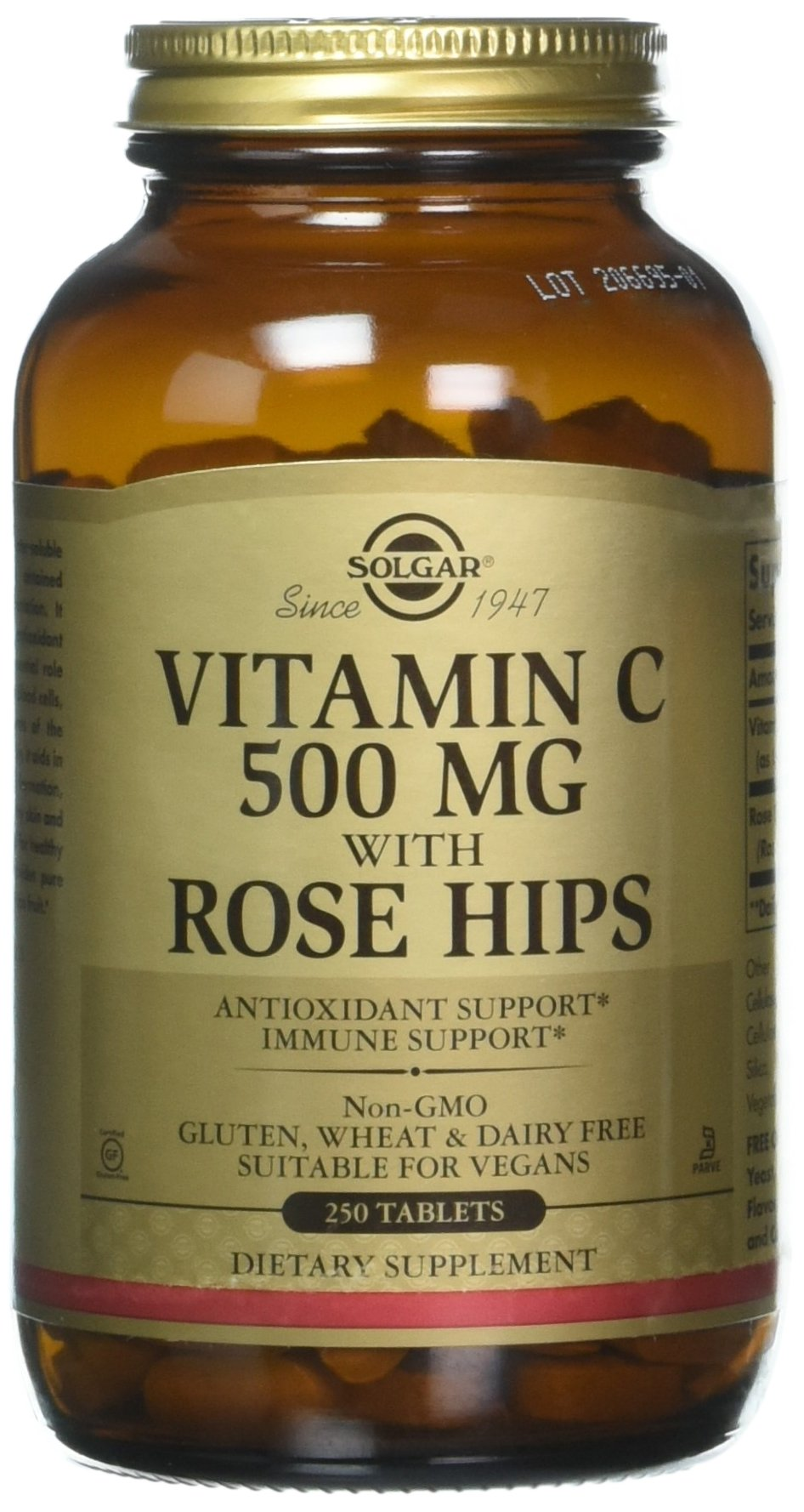 Solgar – Vitamin C with Rose Hips, 500 mg, 250 Tablets