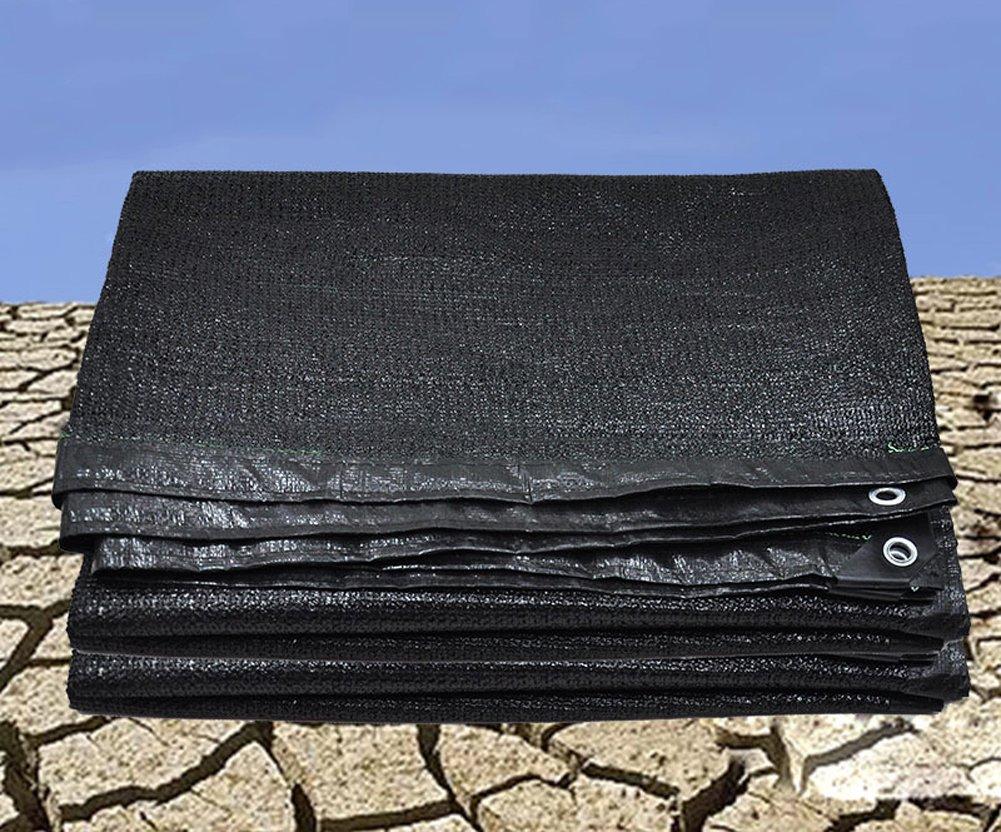 LJXiioo Rete Resistente UV del Panno di Ombra Nera del Parasole per Il Pannello Netto dell'ombra per la Serra della Copertura vegetale,6.6ft9.9ft