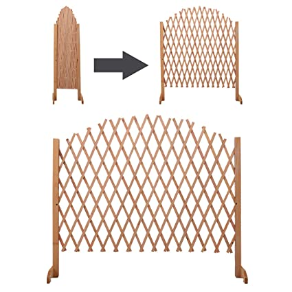Expandable Patio Fence Wooden Screen Portable Pet Safety Gate Kid Garden - Amazon.com: Expandable Patio Fence Wooden Screen Portable Pet Safety