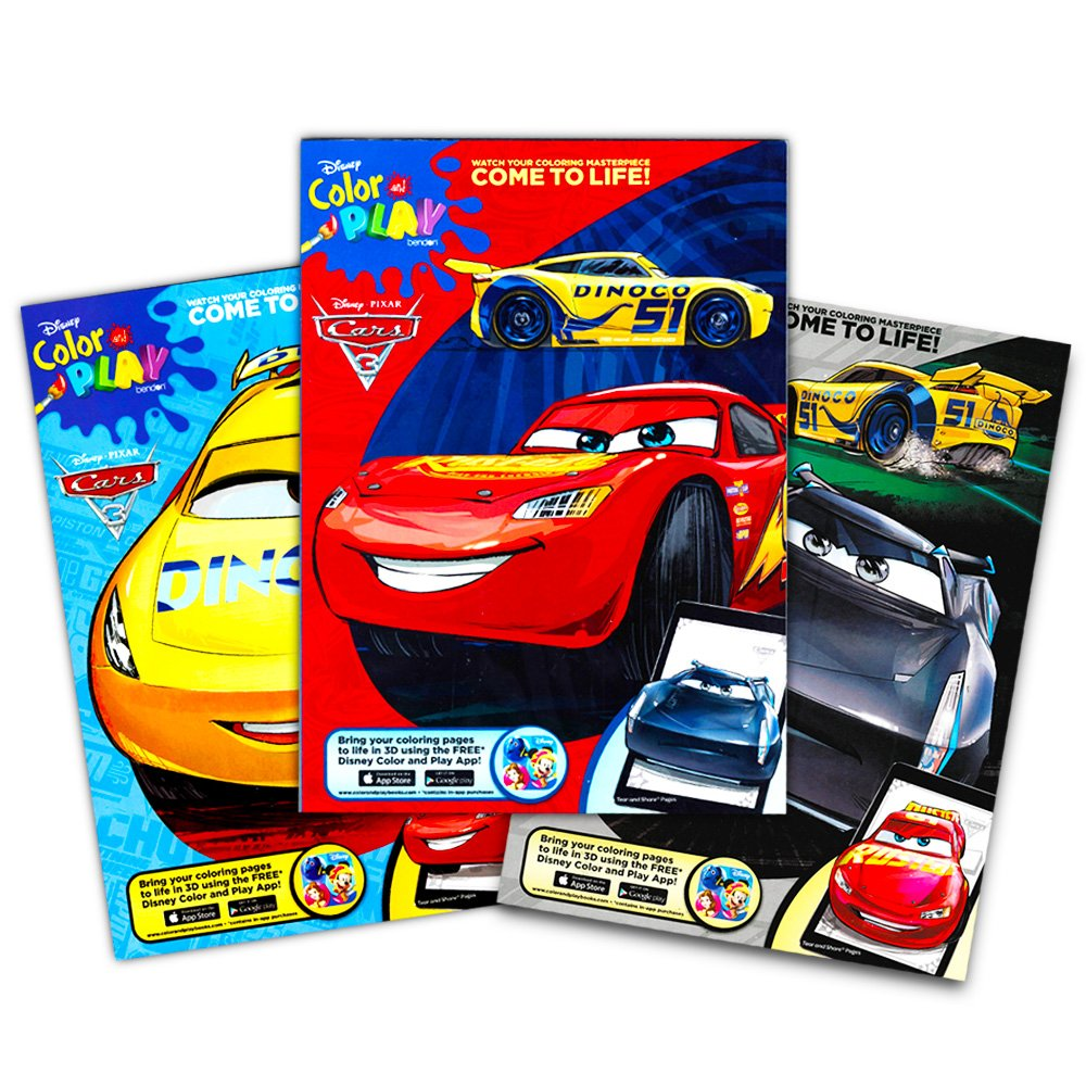 Amazon Disney Pixar CARS Coloring Book With Stickers The Fast Lane 96 Pages Toys Games
