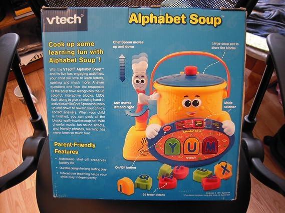Alphabet Learning Toys : Amazon vtech preschool learning alphabet soup toys games