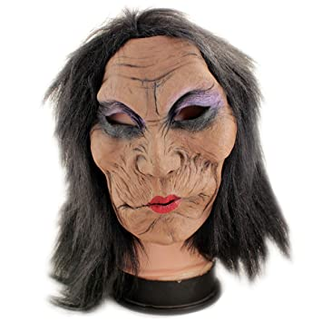 Buy Realistic Latex Rubber Adult Old Women Face Mask - 1a260 ...
