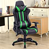 Giantex Executive Racing Style High Back Reclining Chair Gaming Chair Office Computer (Black+Green)