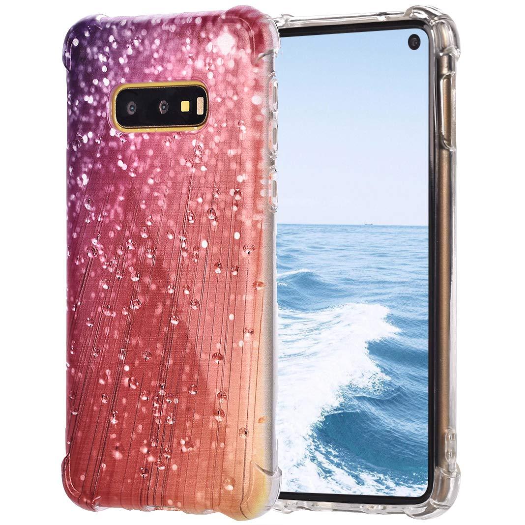 TPU Étui pour Samsung Galaxy S10E, Impression Peint Imperméable Antidérapant Flexibel Étui de Pare-Chocs de Silicium Transparent pour Samsung Galaxy S10E