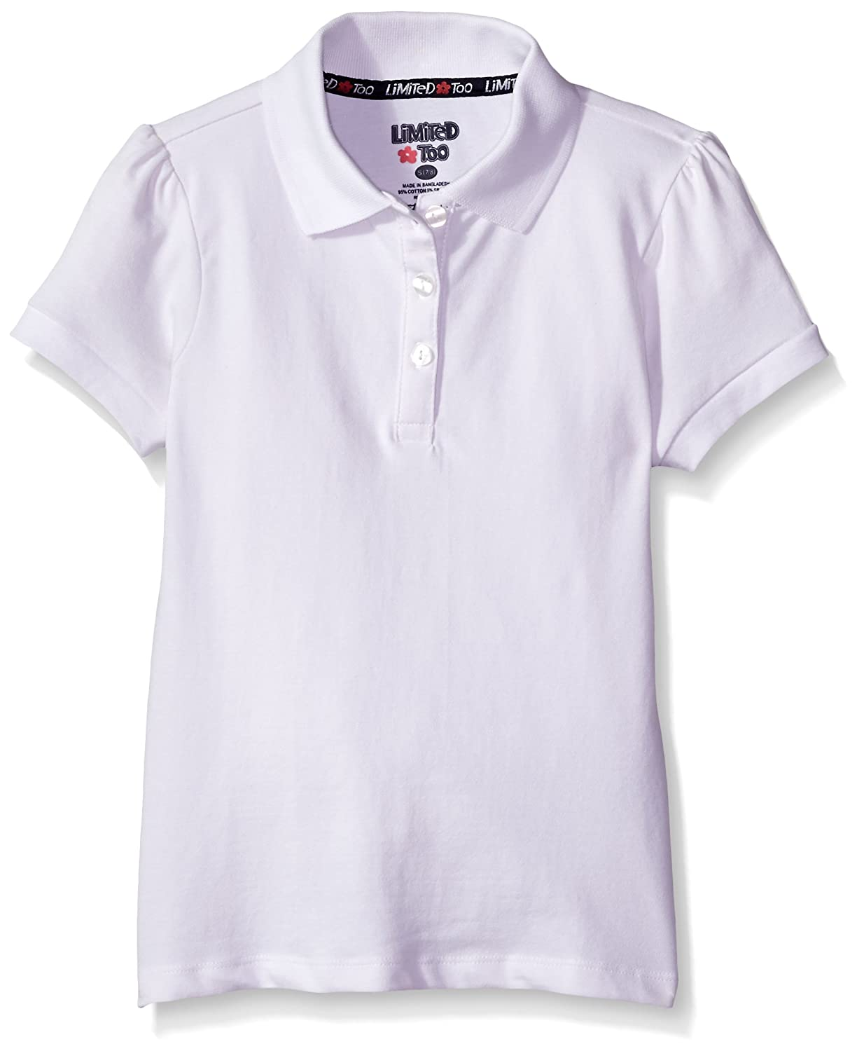 14//16 Limited Too Girls Polo Shirt Bright White More Styles Available