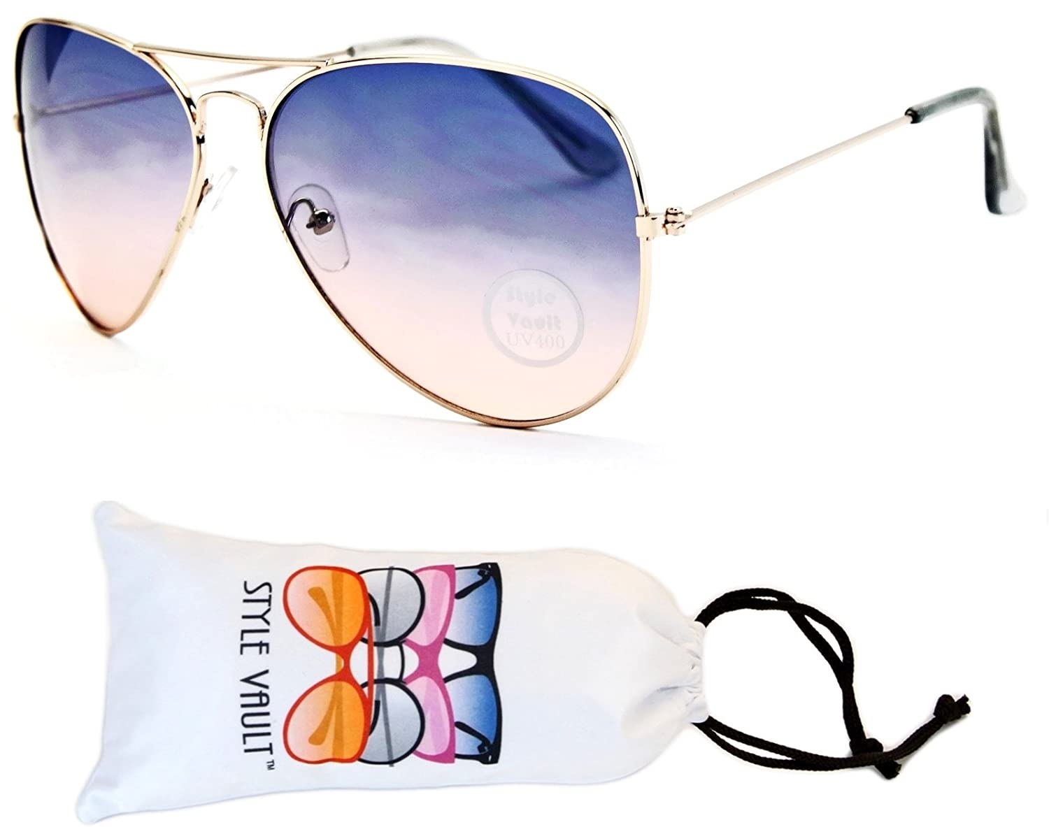 A67-vp Aviator Pilot Colored Lens Metal Sunglasses