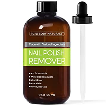 Amazon.com: Nail Polish Remover, Non-Toxic, Acetone-Free, 4 Fl. Oz ...