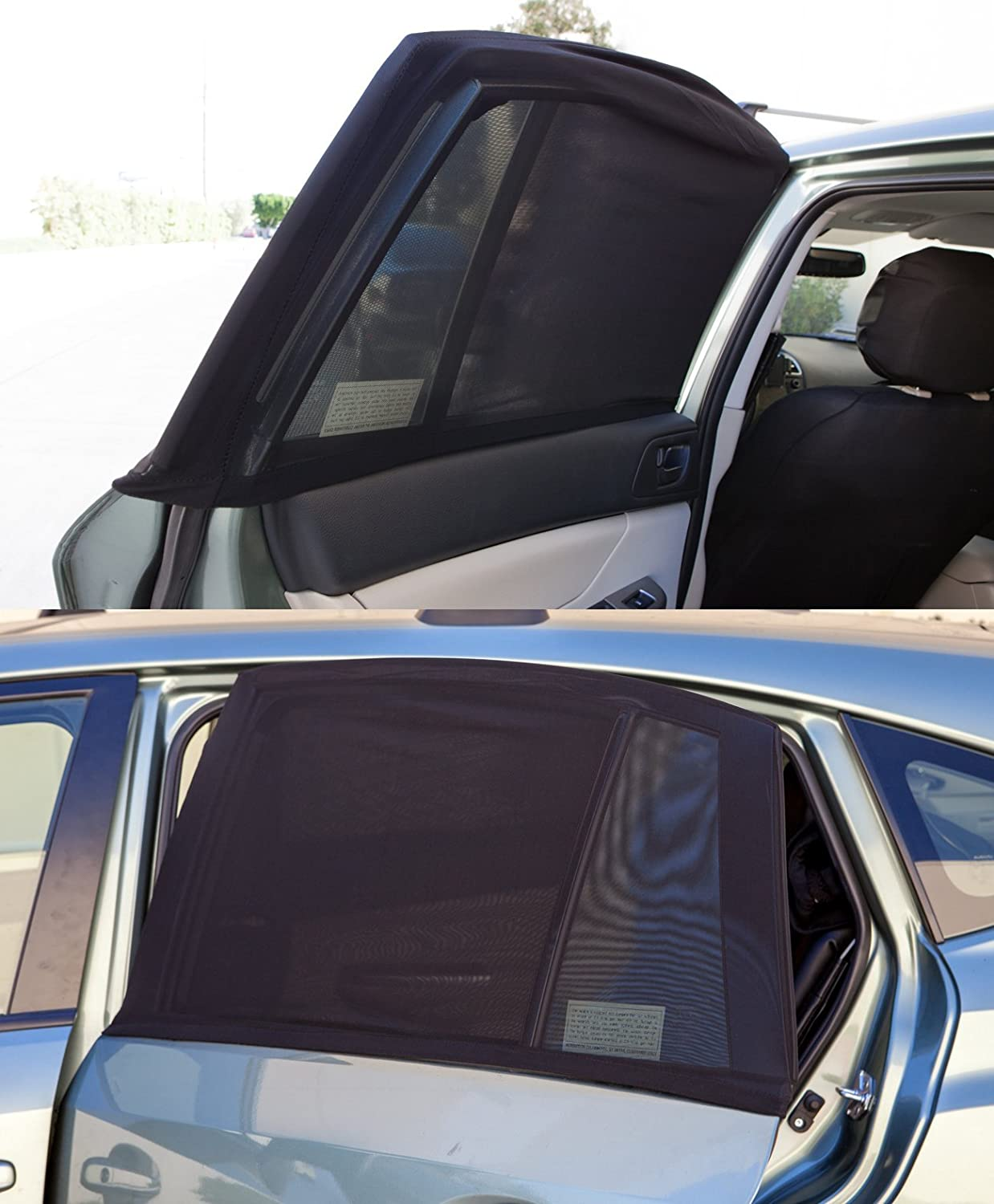 Amazon.com  OxGord Back Window Car Sun Shade for Baby (Pack of 2) Universal  Fit Air Mesh Screen Sunshade Cover fits Most Cars   SUVs  Automotive 550b0480694