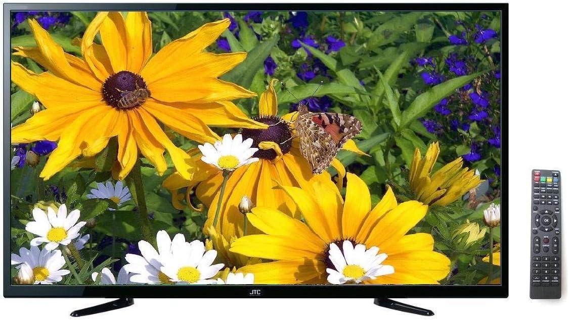 32 pulgadas LED TV JTC 2032ttv – DVB-T2, modelo 2016, sintonizador triple integrado, recibe señales de satélite, cable DVB-T y DVB-T2 sin receptor adicional, 3 x HDMI, 2 x USB, media player,