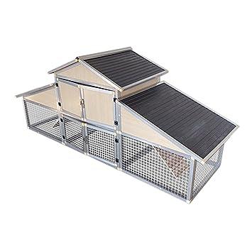 Conejera gallinero corral caseta roedores animales recinto descubierto corredor granja aluminio: Amazon.es: Jardín