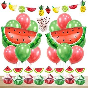 Wassermelonen Party Dekoration Wassermelonen Luftballons Cupcake