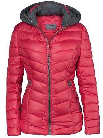 best website e66b6 7d22c Giubbino trapuntato da donna, per autunno-inverno, giacca corta con  cappuccio, da sci