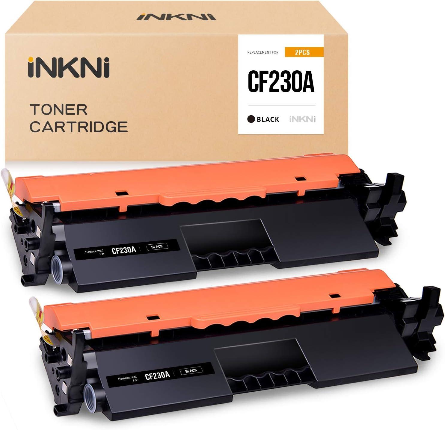 INKNI Compatible Toner Cartridge Replacement for HP 30A 30X CF230A CF-230 for HP Laserjet Pro MFP M227fdw M203dw M227fdn M203d M203dn M227sdn Printer (Black, 2 Pack)