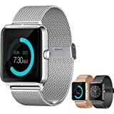 Smart Watch Upgrated Bluetooth Smartwatch with Camera Touchscreen,Smart Watches Unlocked Cell Phones with SIM Card Slot, Sport Wrist Watches for iPhone/Android/ iOS