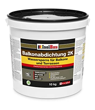 Isolbau 10kg Balkonabdichtung Dichtschlamme 2 K Abdichtung Terrasse