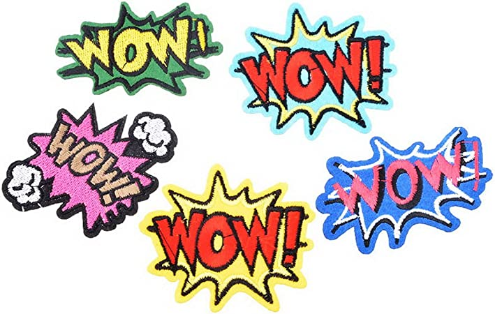 Souarts Mixtes 4PCS Motif Cartoon /Écusson Brod/é Patch Thermocollant pr DIY Denim Fabric