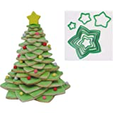 R&M International 5138 Star Tree Cookie Cutters to Make 3D Tree, 10-Piece Plastic Set