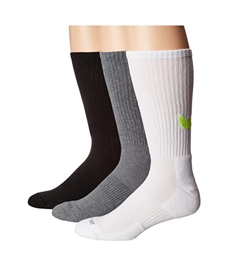 4f2d2abb72f5d Amazon.com : Nike Unisex Dri-FIT Cotton Swoosh HBR Crew Socks 3 Pack ...