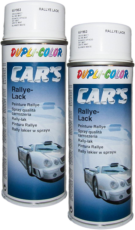 Dupli Bundle 2x Dupli Color Cars Spray Weiss Matt 400ml 651953 Auto