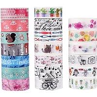 dalus 20rollos Washi Masking Tape Set, Cinta adhesiva decorativa para manualidades, embellecen Bullet revistas, Planificadores