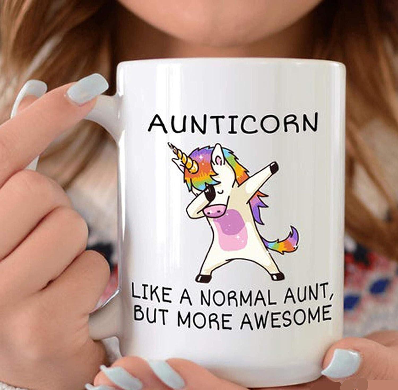 Aunticorn Mug Unicorn Like A Normal Aunt But More Awesome Aunty Gift Mug