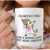 Mug Creatory - 🎁 Aunt Gift, 🎁 Aunt Mug, Aunt Cup, Unicorn Auntie Mug, Aunt Coffee Mug, Gift for Aunt, Auntie Gift, New Aunt