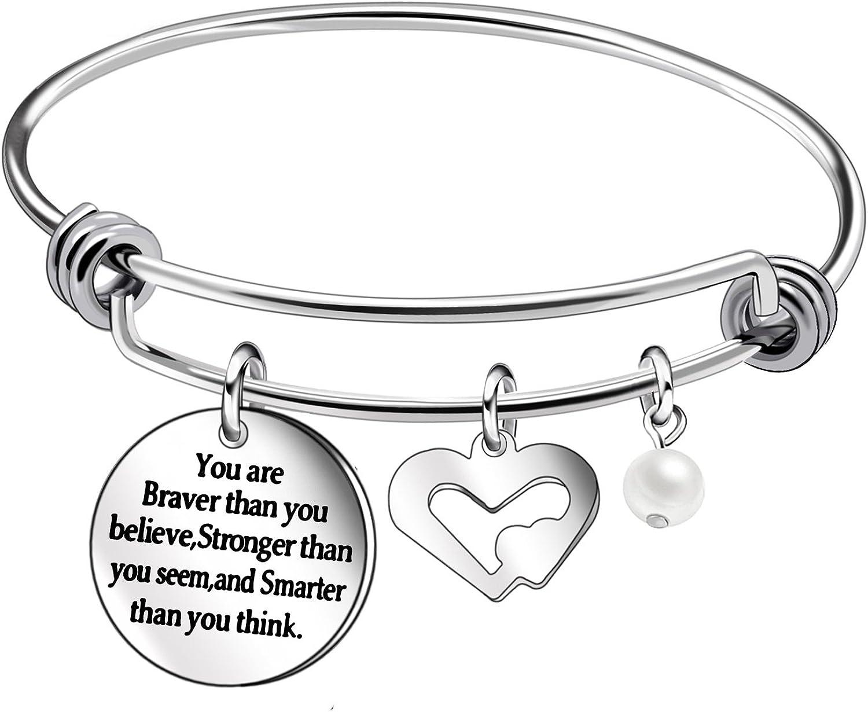 Pulseras de plata con colgante de corazón, para regalos de cumpleaños para mujeres, niñas, adolescentes, nietas