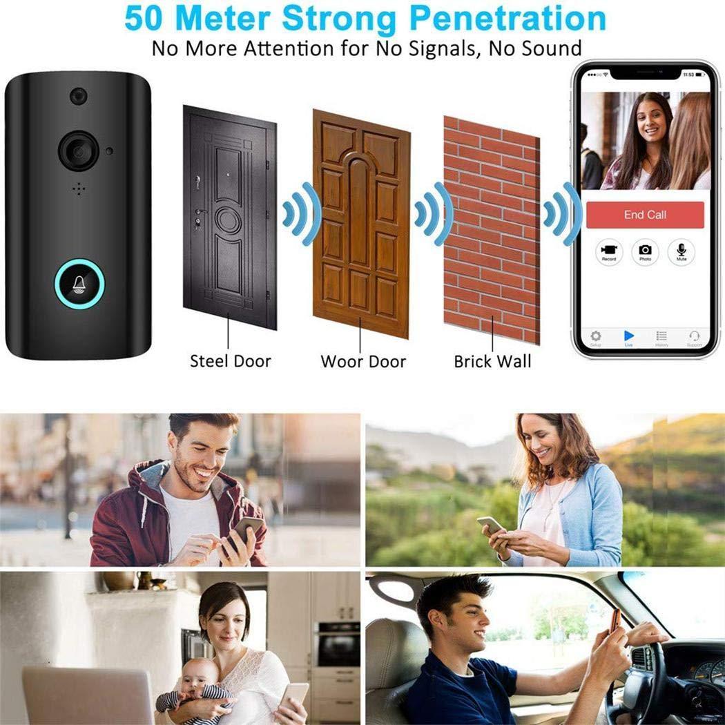 Lanbter Smart Video Doorbell Low Power Intelligent Wifi Voice Intercom Doorbell Home Monitoring Doorbell Kits