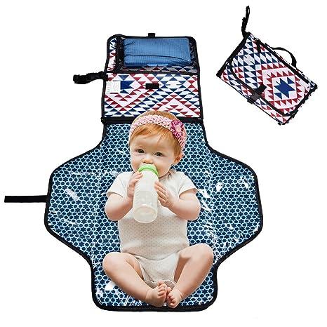 Cambiador de manos 3 en 1 portátil y limpio para pañales, para usar en bebés