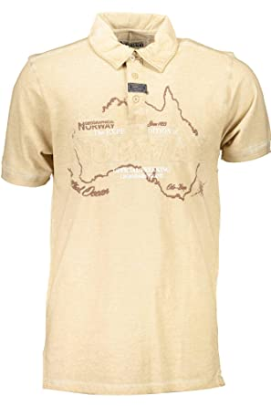 Geographical Norway - Polo - para hombre beige Large: Amazon.es ...