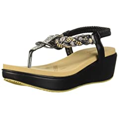 72d4ebabf6dc Meeshine Womens Wedge Sandals Thong Platform Beaded Slingback Bohemia  Summer Sandal - Casual Women s Shoes